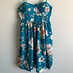 Blue/green floral dress